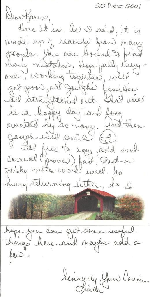 Linda McBroom letter