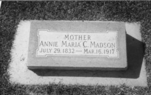 Ane Marie Madsen Johnson, mother of Annie Christine Johnson Eggleston