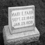 MaryEFarr grave