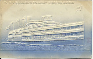 Hudson River Steamboat postcard