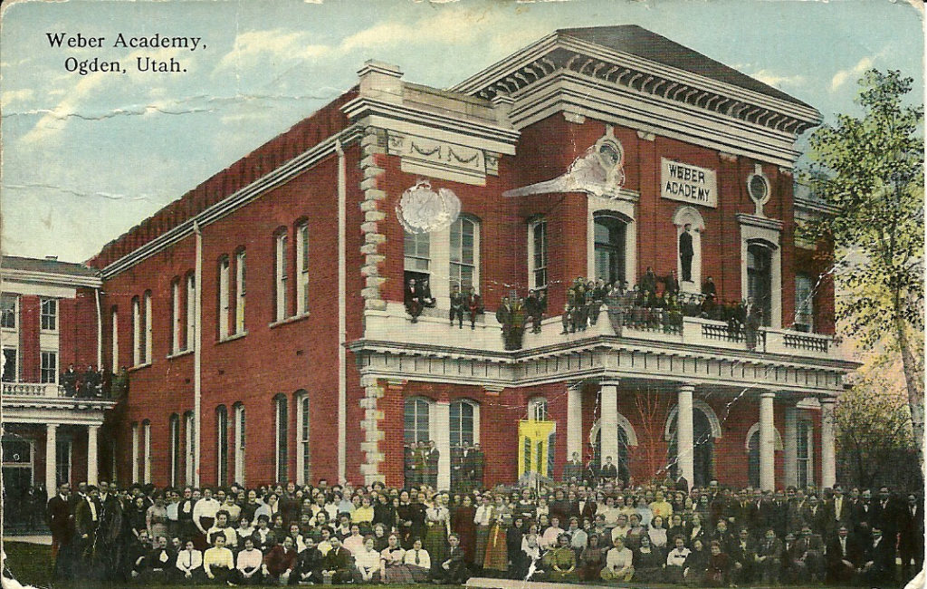 Postcards Weber Academy Ogden, Utah
