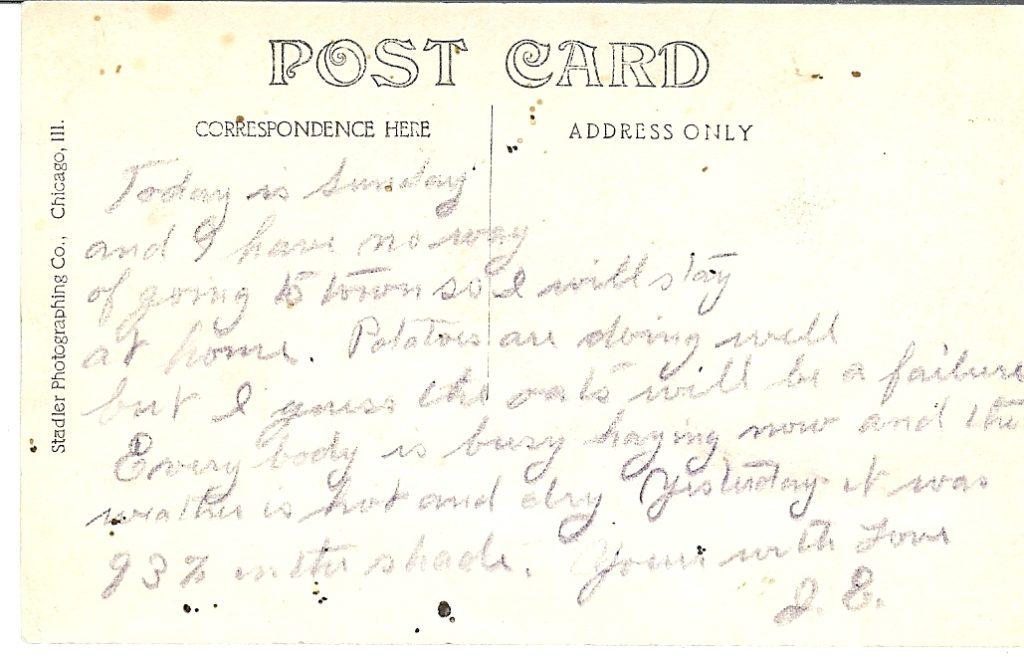 J E postcard