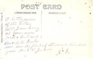 J E postcard Tetons