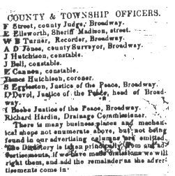 City Director printed in the Western Bugle from September 14 to December 21, 1853